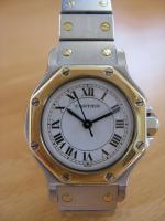 Cartier Damen-Uhr, Modell Santos Ronde, in exzellentem Zustand zu verkaufen
