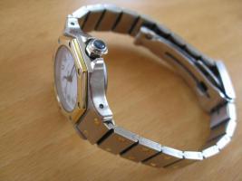 Foto 3 Cartier Damen-Uhr, Modell Santos Ronde, in exzellentem Zustand zu verkaufen
