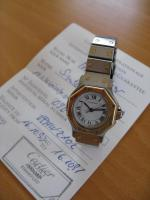 Foto 4 Cartier Damen-Uhr, Modell Santos Ronde, in exzellentem Zustand zu verkaufen