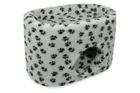 CatBed® Katzenhöhle Lüni Style Plus 70x45x47cm grau mit Tatzen