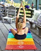 Foto 2 Chakra Teppich Strandtuch Wandaufhänger Meditation Yoga