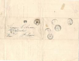 Foto 2 Chalero 1870 an Monsieur Anceaue BRf., 18.Jahrhd. kaiserl. Kr. Werte Österr.