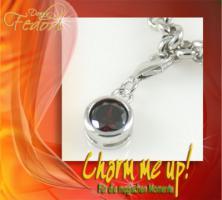 Charm Crimson Sphere 925 Sterling Silber, Zirkonia
