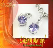 Charm Lilac Diamond 925 Sterling Silber, Zirkonia