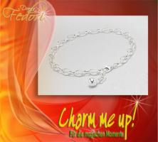 Charms-Armband mit Silberkugel 925 Sterling Silber 5 mm