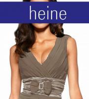 Foto 2 Chfiffon-Satin-Kleid m. Strass taupe heine Größe 38 - Neu & OVP
