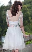 Foto 4 Chiffon konservatives Abiballkleid Kleid - Mode-top.de