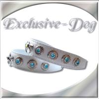 Chihuahua Prager Rattler Lederhalsband XS Halsband mit SWAROVSKI ELEMENTS