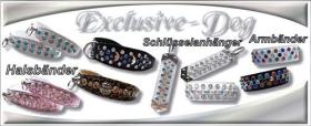 Foto 4 Chihuahua XS mini Prager Rattler Strasshalsband Strass Halsband Leder''EXCLUSIVE-DOG''