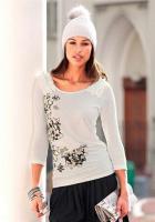 Chillytime - Shirt mit Druck ecru Gr. 38 - OVP - NEU
