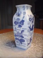 Foto 2 Chinesische Bodenvase weiß-blau