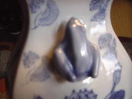 Foto 3 Chinesische Bodenvase weiß-blau