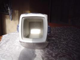 Foto 4 Chinesische Bodenvase weiß-blau