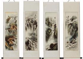 chinesische asiatische malerei kalligraphie rollbilder wandbilder deko bei uns im shop. Black Bedroom Furniture Sets. Home Design Ideas