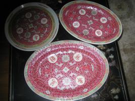 Chinesisches Geschirr/Chinesisches Porzellan in Arabesque rot