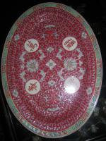 Foto 2 Chinesisches Geschirr/Chinesisches Porzellan in Arabesque rot
