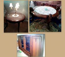 Chippendale Tisch Lampe Anrichte und Löwenkopf Tisch