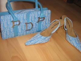 Christian Dior Tasche mit passenden Schuhen