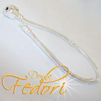 Clip-Armband für Beads 925 Sterling Silber mit Zwischengewinden ca. 20 cm
