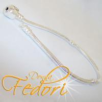 Clip-Armband für Beads 925 Sterling Silber mit Zwischengewinden ca. 23 cm