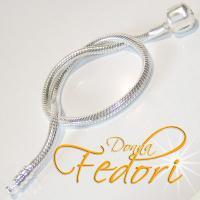 Clip-Armband für Beads 925 Sterling Silber ca. 18 cm