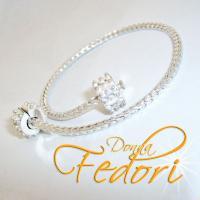Clip-Armband mit Zusatz-Clip für Beads 925 Sterling Silber ca. 19 cm