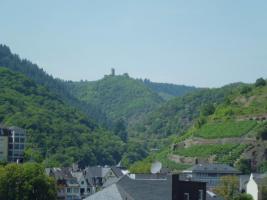 Blick aus der Ferienwohnung auf die Winneburg