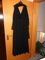 Coctail-Abendkleid schwarz Fa. Unique Gr. 44 (L) mit Stola/Schaal NEU / UNGETRAGEN