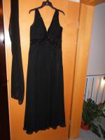 Foto 4 Coctail-Abendkleid schwarz Fa. Unique Gr. 44 (L) mit Stola/Schaal NEU / UNGETRAGEN