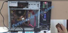 Foto 2 Computer Ein/Aus Fernsteuerung durch Handsender - Funk Fernschalter Relais