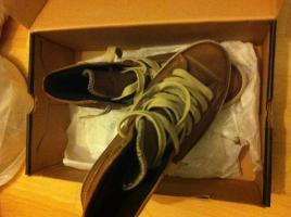 Foto 2 Converse Chucks Boot Braun Leder mit Fell **NAGELNEU** Gr. 44