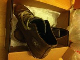 Foto 3 Converse Chucks Boot Braun Leder mit Fell **NAGELNEU** Gr. 44