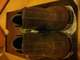 Foto 4 Converse Chucks Boot Braun Leder mit Fell **NAGELNEU** Gr. 44