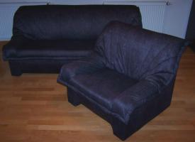 Couch (3-Sitzer) mit Sessel
