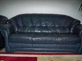 Foto 7 Couch garnitur Leder dunkelblau, 3er-Sitzer, 2er-Sitzer und Sessel, Sofa, nur 100, -€
