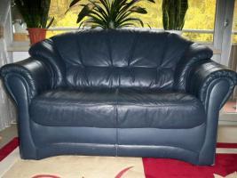 Foto 8 Couch garnitur Leder dunkelblau, 3er-Sitzer, 2er-Sitzer und Sessel, Sofa, nur 100, -€