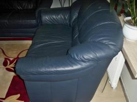 Foto 9 Couch garnitur Leder dunkelblau, 3er-Sitzer, 2er-Sitzer und Sessel, Sofa, nur 100, -€