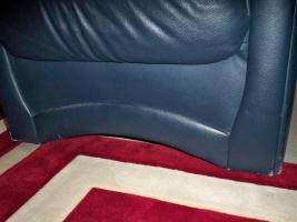 Foto 10 Couch garnitur Leder dunkelblau, 3er-Sitzer, 2er-Sitzer und Sessel, Sofa, nur 100, -€