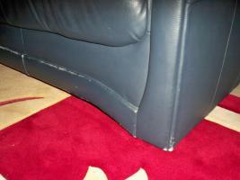 Foto 11 Couch garnitur Leder dunkelblau, 3er-Sitzer, 2er-Sitzer und Sessel, Sofa, nur 100, -€