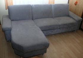 Couch grau ausziehbar