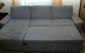 Foto 2 Couch grau ausziehbar