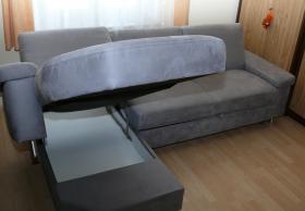 Foto 3 Couch grau ausziehbar