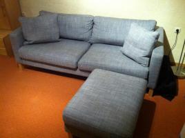Couch, 3-Sitzer, Karlstad, grau, wie neu, günstig abzugeben!