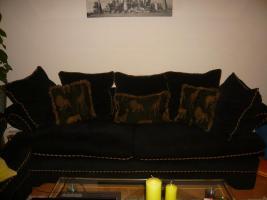 Couch / Sofa 2 und 3 Sitzer Amerikan Style  schwarz