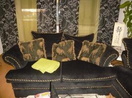Foto 3 Couch / Sofa 2 und 3 Sitzer Amerikan Style  schwarz