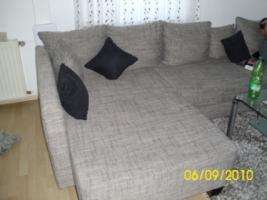 Foto 2 Couch, U-Form, grau/schwarz