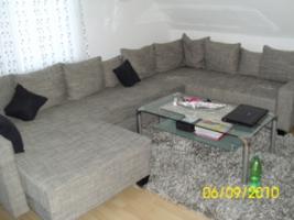 Foto 4 Couch, U-Form, grau/schwarz