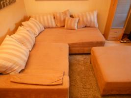 Foto 4 Couchgarnitur ''Michelle'' in L-Form mit 11 Kissen (225x190x68 cm)