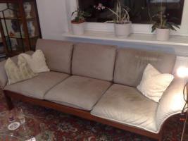 Couchgarnitur Nappaleder beige