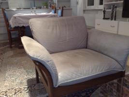 Foto 2 Couchgarnitur Nappaleder beige
